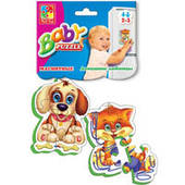 Магнитные беби пазлы Vladi Toys VT3208 4 вида