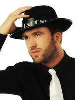 Шляпа гангстера черная с лентой