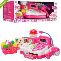 Кассовый аппарат детский с продуктами на батарейках 8343 ***