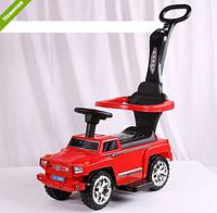 Машинка Каталка  музыкальная 2 в 1 Mercedes M 3597A-3 красная ***