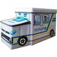 Пуф-ящик для игрушек Полиция 227-18918600