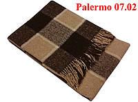 Плед  полуторный 140х200, тм. VLADI, Палермо «Palermo» 07.02 (бел-беж-кор)
