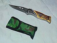 Раскладной нож с костяной ручкой средний