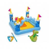 Игровой надувной центр Замок с драконом Intex 57138