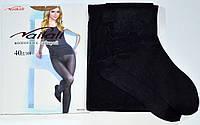 Капроновые колготки 40 den Nailali 910 black 2. В упаковке 6 штук, фото 1