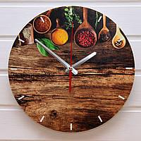 """Настенные часы на кухню - """"Специи 3"""" (на пластике)"""