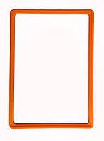 Пластиковая рамка А6 (105 х 150 мм), оранжевый