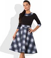 Платье А-покроя с юбкой из неопрена