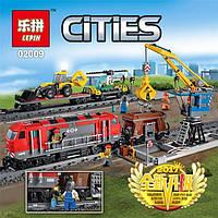Конструктор Lepin 02009 Грузовой поезд 1033 дет, фото 1