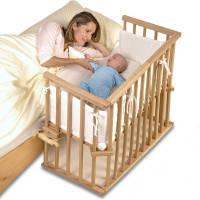 Детская кроватка приставная Катруся с матрасиком и защитой, фото 1