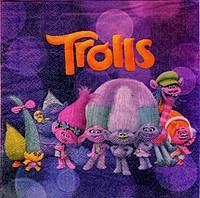 Салфетки праздничные Тролли Trolls 10 штук