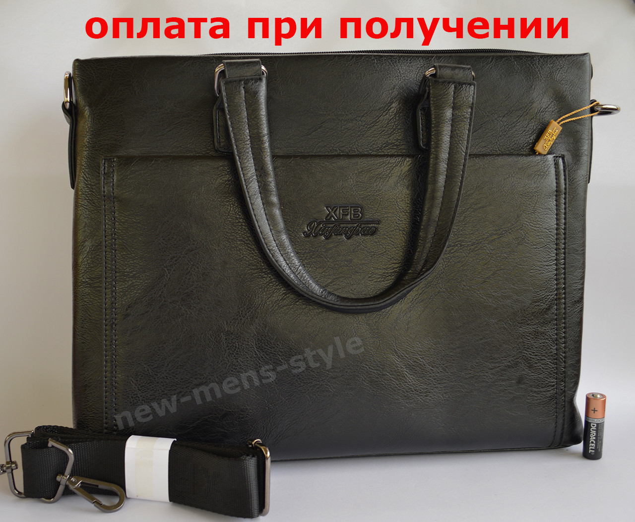 8dffc68a18c4 Мужская кожаная брендовая сумка через плечо для документов портфель