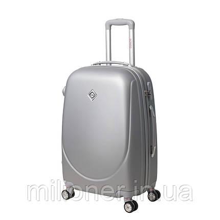 Чемодан Bonro Smile с двойными колесами (большой) серебряный, фото 2