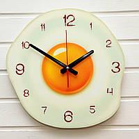 """Часы на кухню - """"Глазунья"""" (на пластике)"""