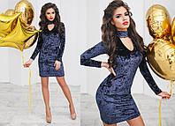 Велюровое платье № 6001 kux