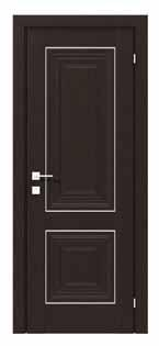 Двери межкомнатные с ПВХ покрытием  ESMI small molding глухое