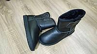 Черные кожаные Угги унисекс реплика UGG, фото 1