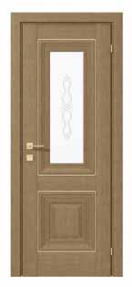 Двери межкомнатные с ПВХ покрытием  ESMI basic molding стекла сатин