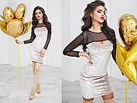 Велюровое платье № 6002 kux