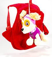 Детский рюкзак Щенячий патруль с игрушкой, щенок Скай