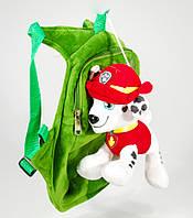 Детский рюкзак Щенячий патруль с игрушкой, щенок Маршал