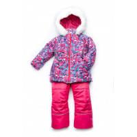 Зимний костюм для девочки мембрана Art pink Модный карапуз 86-104