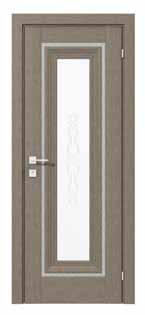 Двери межкомнатные с ПВХ покрытием PATRIZIA middle molding стекла сатин