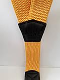 Мужские подтяжки желтого цвета широкие, фото 2