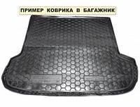 Полиэтиленовый коврик для багажника Kia Rio (хб) (MID) (без органайзер.) с 2015-