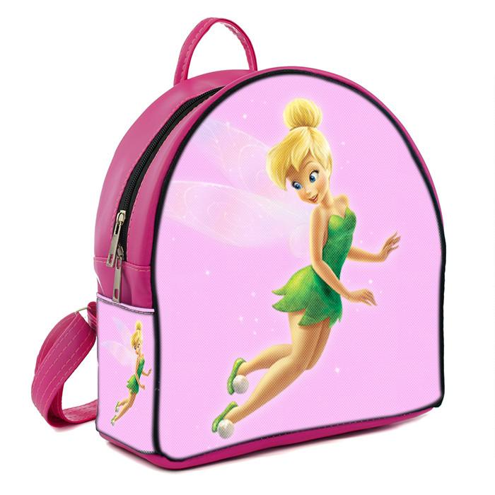 Розовый рюкзак для девочки с принтом Фея Динь Динь