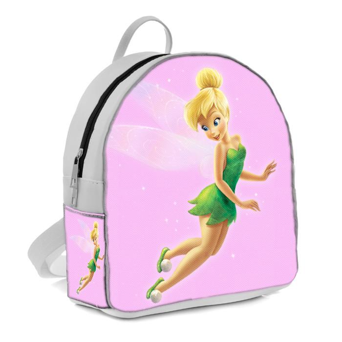 Белый рюкзак для девочки с принтом Фея Динь Динь