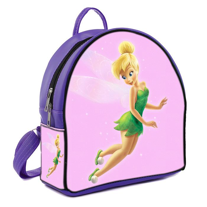 Фиолетовый рюкзак для девочки с принтом Фея Динь Динь