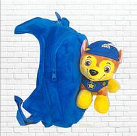 Детский рюкзак Щенячий патруль с игрушкой, щенок Чейз