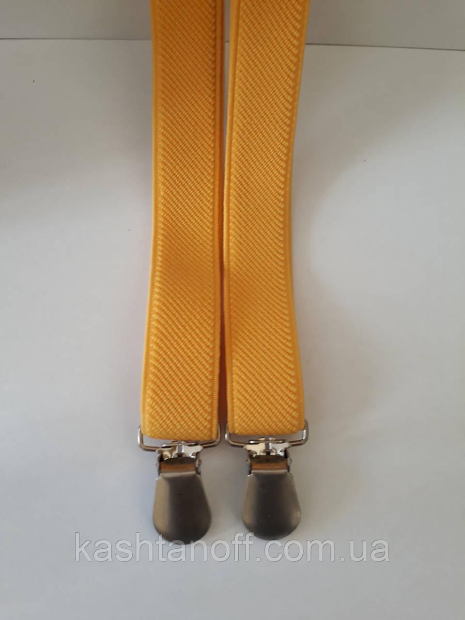 Чоловічі підтяжки жовтого кольору вузькі
