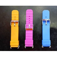 Ремешок силиконовый на детские умные часы Q60, Q80, Q90, Q100 3 цвета