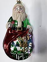 """Новогодняя игрушка-подвеска """"Дед Мороз с игрушками"""" выс.18см"""