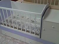 Кровать-трансформер Бони Малыш 3 в 1 (ТМ-08) Белый-лаванда