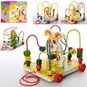 Деревянная игрушка Лабиринт каталка MD 0986 4 вида