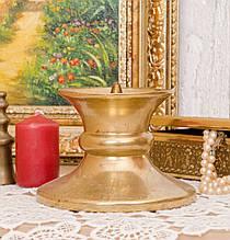 Масивною свічник під конопляну свічку, латунь, лиття, Німеччина