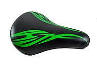 """Седло """"Зеленый узор"""" 150х230мм на детский велосипед"""