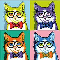Картины по номерам Кот в квадрате (RS-N0001333) 35 х 45 см