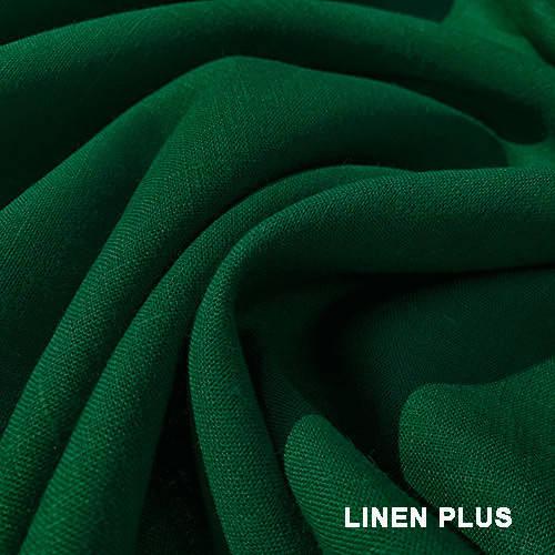 Темно зеленая льняная ткань. 100% лен, цвет 534
