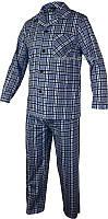 Мужская пижама верх и штаны Roober 7347 большая клетка