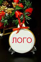 Новогодний БРЕНДИРОВАННЫЙ  медовый имбирный пряник , фото 1