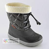 Черные зимние сапоги для детей Demar Furry 26-27р - 17,5см