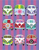 Картина по номерам Фургончики хиппи (RS-N0001349) 35 х 45 см