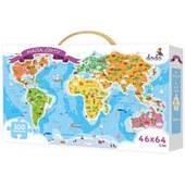 Пазл Карта Мира Dodo 100110, 100 элементов