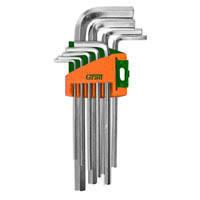 Ключи шестигранные Grad 9шт 1,5-10мм CrV (короткие, средние)