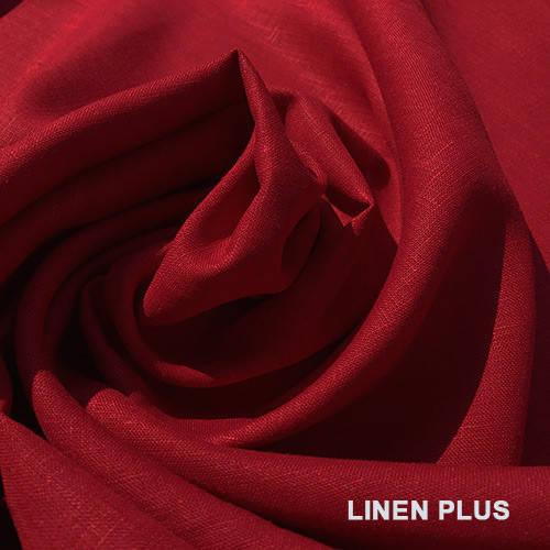 Красная льняная ткань 100% лен, цвет 861
