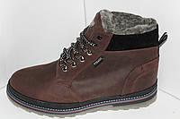 Классические мужские зимние ботинки на меху, на шнуровке